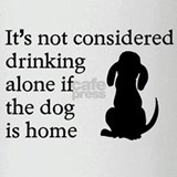 Drinking Alone Dog Home Drinking Glass
