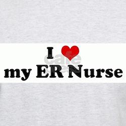 I Love my ER Nurse Ash Grey T-Shirt
