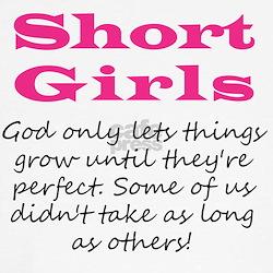 Short Girls Cap Sleeves T-Shirt