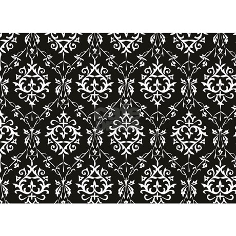 black cream damask 5 39 x7 39 area rug by dpeagreendesigns