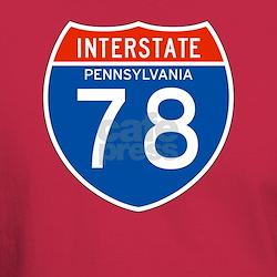 Interstate 78 - PA T-Shirt