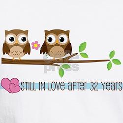 Owl 32nd Anniversary Shirt