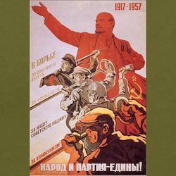 CCCP 1917-1957 Lenin Ash Grey T-Shirt