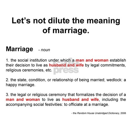 Definition Of Marriage Posters By Save Marriage
