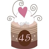 45th Birthday Cupcake Water Bottle