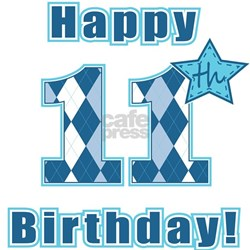 Happy Birthday 11 Year Old Bumper Stickers Car Stickers