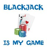 BLACKJACK IS MY GAME Water Bottle