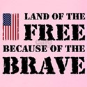 Land of the free because of the brave Tank Tops