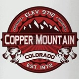 Copper Mountain Red Drinking Glass