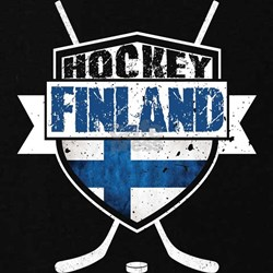 Suomi Finland Hockey Shield Maternity T-Shirt