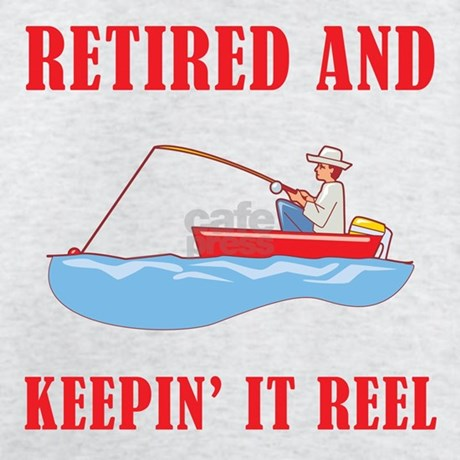 Funny fishing retirement t shirt by birthdaybashed for Fishing gag gifts