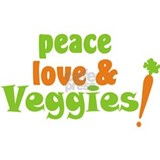 Peace, Love and Veggies Mug