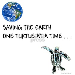 SAVING THE EARTH ONE TURTLE AT A TIME - WOMEN'S
