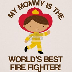 Firefighter Mommy (Worlds Best) Tee
