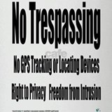 No Trespassing Drinking Glass