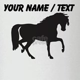 Custom Horse Silhouette Drinking Glass