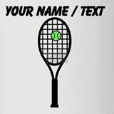 Custom Tennis Racket Drinking Glass