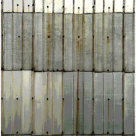 Rustic Rusty Tin Grunge Shower Curtain by rebeccakorpita