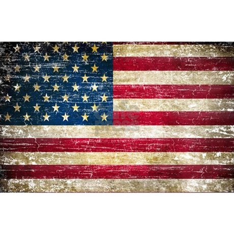 Faded American Flag Patches By Nationalpolitico