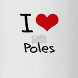 I Love Poles Drinking Glass