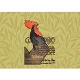 Vintage Rooster Crowing Water Bottle