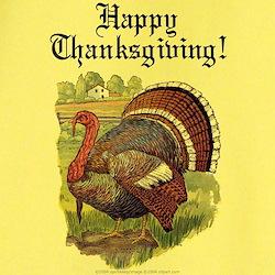 Antique Thanksgiving Turkey Ash Grey T-Shirt