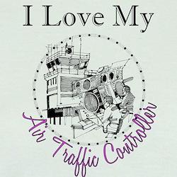Love My Air Traffic Controller Circle T-Shirt