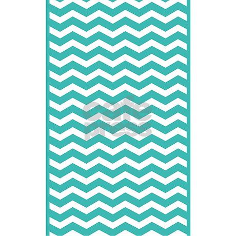 Turquoise chevron rug