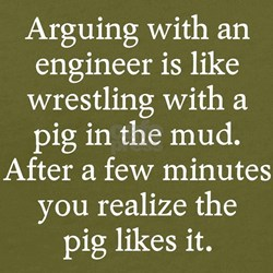 Arguing engineer T-Shirt