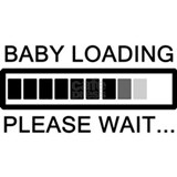 Baby loading please wait T-shirts