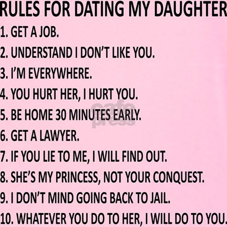Top 10 rules for dating my daughter t shirt