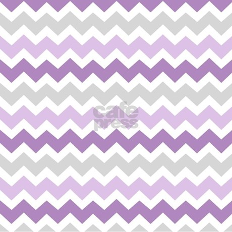 Purple Grey Chevron Stripes Shower Curtain by ...