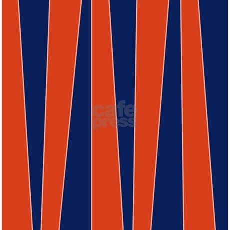 Uneven Stripes Red Blue Shower Curtain By Jqdesigns