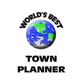 World's Best Town Planner Water Bottle