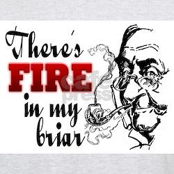 Fire in My Briar Grey T-Shirt
