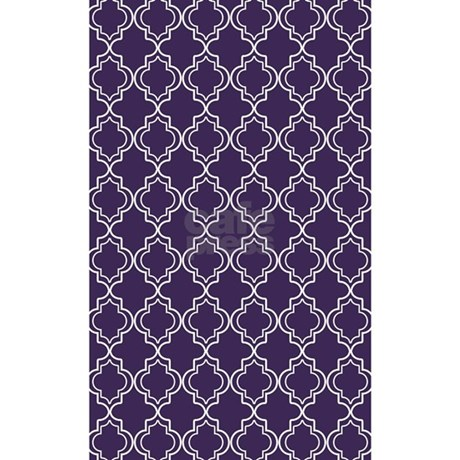Dark Purple Moroccan Quatrefoil 3u0027x5u0027 Area Rug By HHTrendyHome