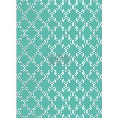 Medium Teal Moroccan Quatrefoil 5'x7'Area Rug by HHTrendyHome