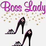 #1 BOSS LADY Shot Glass