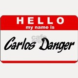 Carlos Danger Nametag Shot Glass