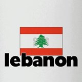 I HEART LEBANON FLAG Drinking Glass
