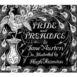 Pride & Prejudice Jane Austen Peacock Book Cover B