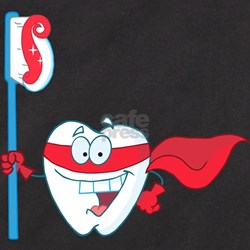 superhero tooth with t T