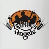 Barley's Angels logo w/ Beer Drinking Glass