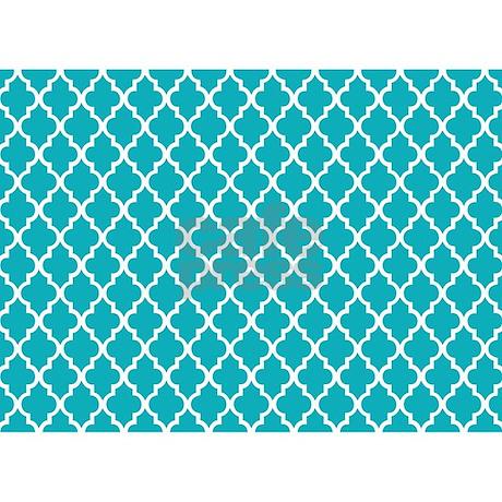 Peacock Teal Quatrefoil 5'x7'Area Rug by mcornwallshop