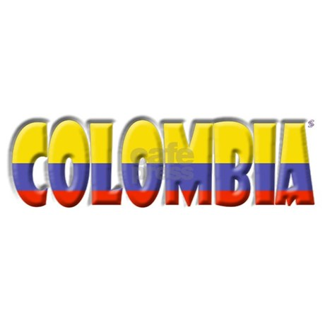 Word Art Flag Of Colombia Bumper Car Sticker By Coolcups
