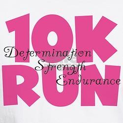 10K Run Pink Shirt