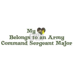 My Heart: Army Command Sergea Shirt