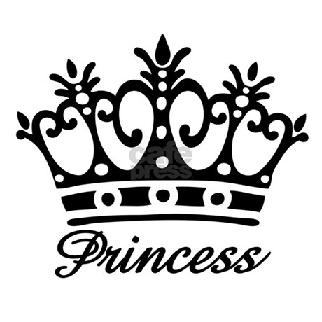 Black And White Princess Crown White Princess Crown Black