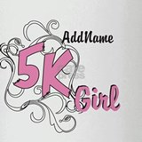 Customize 5k Girl Drinking Glass