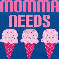 momma needs strawb icecream.png Maternity Tank Top